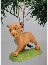 "Authentic Disney Lion King Simba Christmas Holiday Ornament PVC Figure ~ 3"" New"