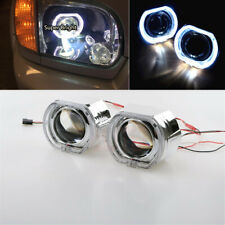 "2.5"" Auto HID Bi Xenon Projector Lens Square LED Angel Eyes Halo Ring DRL LHD 2x"