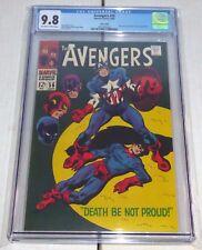 Avengers #56 CGC 9.8 Twin Cities Pedigree Captain America Buck Barnes Zemo App