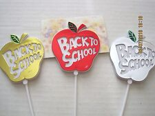 Floral Picks BACK TO SCHOOL APPLE Cardholders Metallic Assorted Colors Pk/12!
