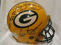 Packers Super Bowl I & II HOFs & Stars Autographed Full Size Helmet–Full JSA