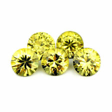 Certified Natural 4.3mm Yellow Sapphire 2ct Round Brilliant Cut Matching Parcel