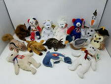 Mixed Lot of Ty Beanie Babies + Other Brands Wildlife Christmas America Angels