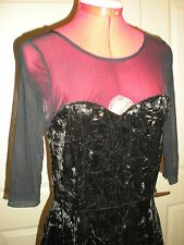 COTTON ON BLACK MESH SEE THROUGH SHEER SEXY PARTY DRESS NWT SMALL