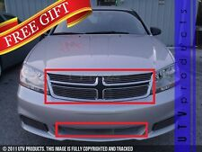 GTG 2011 - 2014 Dodge Avenger 5PC Polished Overlay Billet Grille Grill Kit