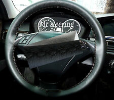 FOR BMW E60,E61 BEST QUALITY BLACK ITALIAN LEATHER STEERING WHEEL COVER