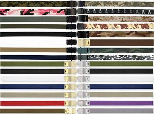 Military Web Belts 100% Cotton Camo Military Wear Web Belts