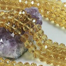 36 pcs 12mm Chinese Crystal Glass Beads Faceted Rondelle Dark Citrine Yellow