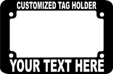 MOTORCYCLE CUSTOM TEXT TAG HOLDER CUSTOM TEXT PERSONALIZED License Plate Frame