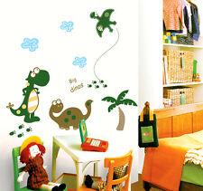 Big Dinosaurs & Tree World Wall Stickers Removable Kids Nursery Room Decal Home