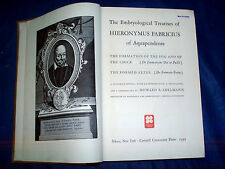 The embryological treatises of Hieronymous Fabricius of Aquapendente