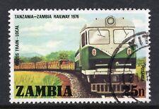 ZAMBIA = 1975 Tanzania-Zambia Railway Opening, 25n. SG256. Fine Used