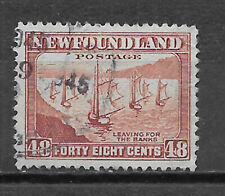 NEWFOUNDLAND , CANADA , 1932/37 , FISHING FLEET , 48c STAMP , USED , CV$5.25