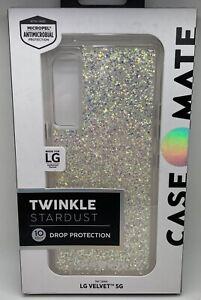 NEW Case-Mate Twinkle Stardust Case for LG Velvet 5G - Iridescent Glitter