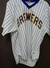 Milwaukee Brewers Vintage Rawlings White Baseball Jersey Sz 38 Blank Back MLB