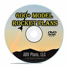 600 Model Rocket Plans Library, Estes, Vintage Catalogs, Newsletters PDF DVD F55