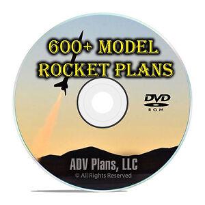 600 Model Rocket Plans Library, Estes, Vintage Catalogs, Newsletters PDF DVD F55