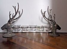 Sullivans Old World Style Elk Stag Deer Head Antlers Candle Holder
