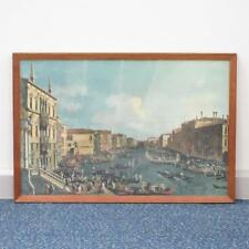 """""""A Regatta on the Grand Canal"""" by Canaletto, Ganymed Print, 27.5x19"""" Wood Frame"""