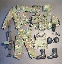 "1:6 Custom US Army Ranger SAW Gunner Uniform Lot 12"" GI Joe BBI Dragon DAM Toys"