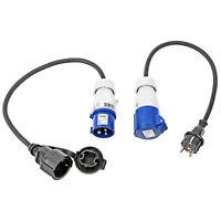 CEE Adapter Kabel SET Schuko - CEE 200-250V, 16A, 3polig, 40 cm, Ip44