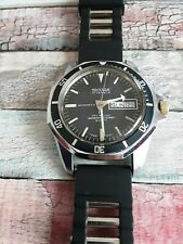 Vintage Sicura Automatic 17 Jewels Divers Watch 600ft Date,Day Swiss Made