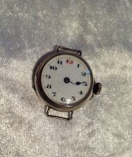 Antique 1918 Solid Silver Trench Watch Style Watch Head.