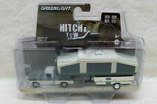 "MINT 1970 Ford F-100 & Pop-Up Camper Trailer ""Greenlight"" Diecast 1:64 Replica"
