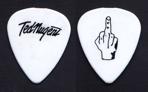 Ted Nugent Signature Middle Finger White Guitar Pick - 2000 Tour