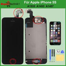 LCD Display für iPhone 5S VORMONTIERT KOMPLETT RETINA Glas Front SCHWARZ BLACK