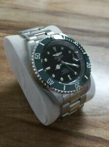 Invicta Pro Diver 9094OB 200m black dial custom olive green ceramic bezel