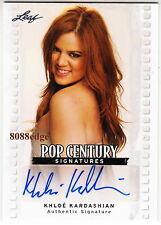 2011 LEAF POP CENTURY AUTO: KHLOE KARDASHIAN - AUTOGRAPH SISTER OF KIM/KOURTNEY