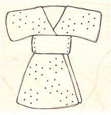 Broderie Kimono-Wood Mounted Rubber Stamp-Lindsay Mason/Pi
