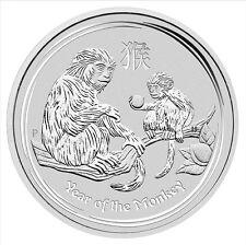 2016 Year of the Monkey Lunar Series ll Silver 1/2 oz 999 Bullion Coin