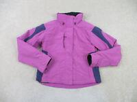 Obermeyer Jacket Womens 6 Pink Purple Skier Winter Coat Full Zip Ladies