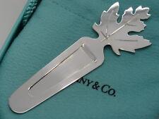 Bookmark in Tiffany Pouch & Box Tiffany & Co. Sterling Silver Maple Leaf