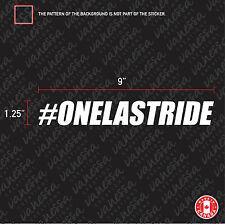 2x #ONELASTRIDE RIP PAUL WALKER  sticker vinyl decal white