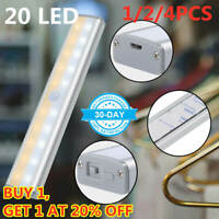 20LED Luci  Armadio Illuminazione USB Ricaricabile Lampada Sensore di Movimento·