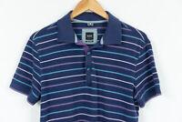 Hugo Boss Striped Regular Fit Polo Shirt Men Size M