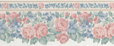 Elegant Pastel Rose Vynal Textured Light 2 Rolls 30 Feet 30' Wallpaper Border