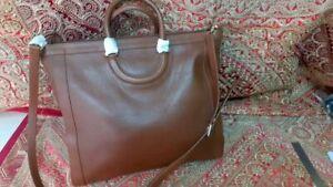 Tory Burch Serif T Pebble Leather Large Tote bag BARK