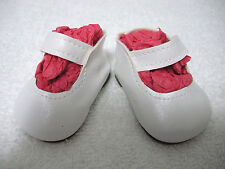 """Fits 19"""" Toni P-92 Ideal Doll - White Mary Janes - Shoes - D1481"""