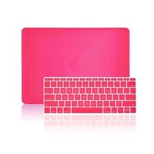 "2 in 1 Hot Pink Crystal Case for Macbook 12"" Retina Model A1534 + Keyboard Cover"