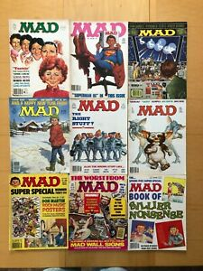 MAD MAGAZINE 9 ISSUE LOT #240, 243-245, 247, 249, AND THREE SUPER SPECIAL ISSUES