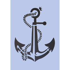 Anchor Stencil A4 Crafts Nautical Signs Navy ancre ancora Wall Plaque Tattoo 028