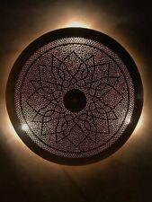 Moroccan wall lighting fixtures ebay flora flush light brass moroccan wall light in antique brass aloadofball Gallery