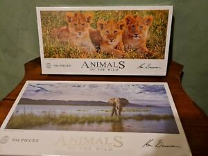 """Animals of the Wild. By Ken Duncan """"Curious Cub"""" New 504 Pieces Jigsaw Puzzle."""
