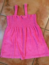 ☀️Green Dog Girls Pink Sun Terry Shirt Top Tank Swim Suit Cover Up Summer Size 5