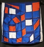 Vintage 1970's Abstract Geometric Silk Vera Neumann Scarf (26 x 26)
