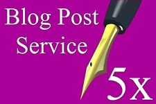 Blog Writing Service - 5 Article Posts / 400 Words Each on Website